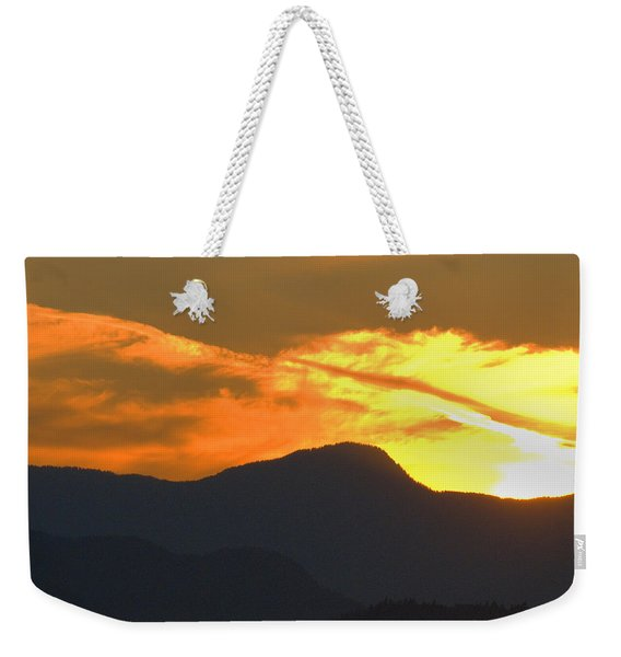 A Vancouver Sunset Weekender Tote Bag