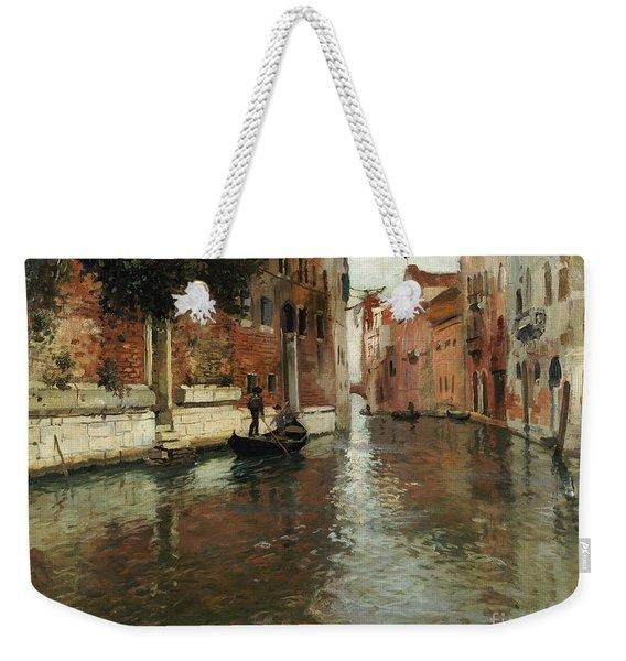 A Venetian Backwater  Weekender Tote Bag
