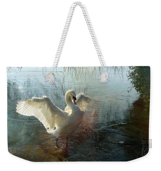 A Very Fine Swan Indeed Weekender Tote Bag