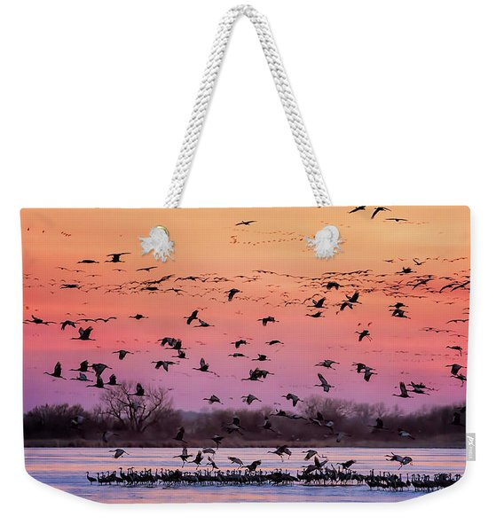 A Vibrant Evening Weekender Tote Bag