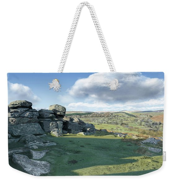 A View From Combestone Tor Weekender Tote Bag