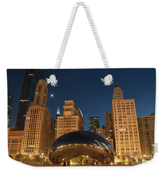 A View From Millenium Park At Night Weekender Tote Bag