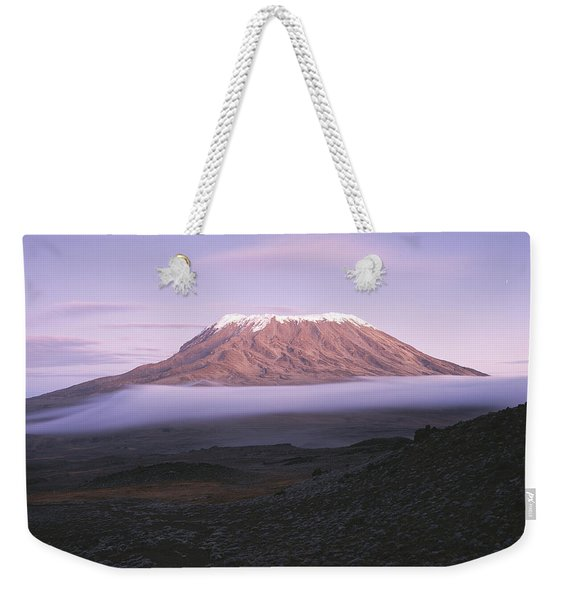 A View Of Snow-capped Mount Kilimanjaro Weekender Tote Bag