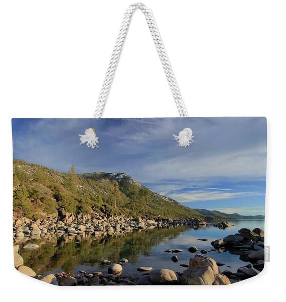 Weekender Tote Bag featuring the photograph A View To Herlan Peak by Sean Sarsfield