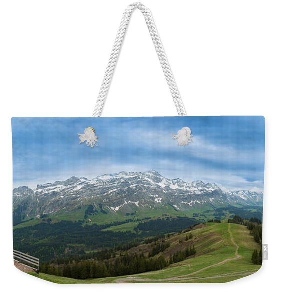 A View To The Saentis, Switzerland Weekender Tote Bag