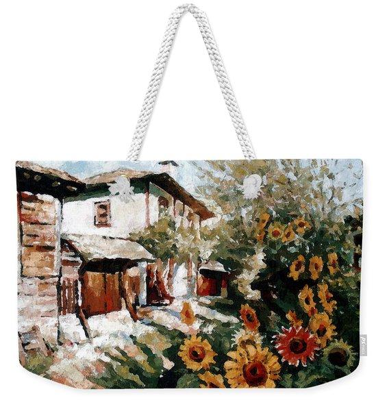 A Village In Summer Weekender Tote Bag
