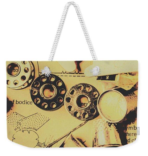 A Vintage Embellishment Weekender Tote Bag