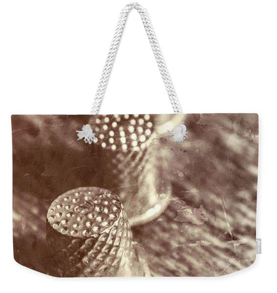 A Vintage Stitch Up Weekender Tote Bag