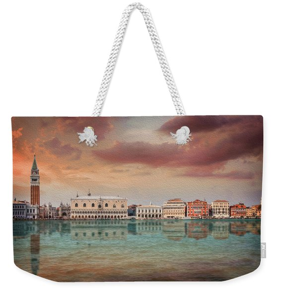 A Vision Of Venice Italy Reflected Weekender Tote Bag