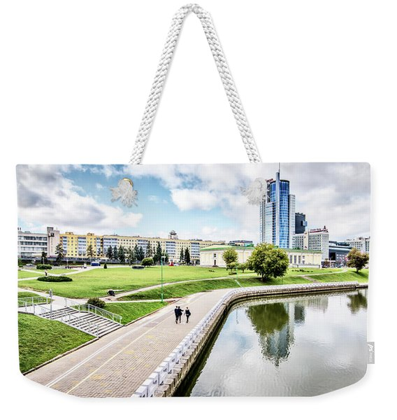 A Walk Along The Svislach River Weekender Tote Bag