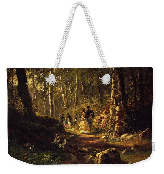 A Walk In A Forest, 1869  Weekender Tote Bag