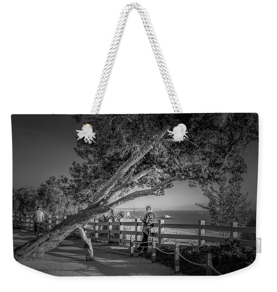 A Walk In The Park B And W Weekender Tote Bag
