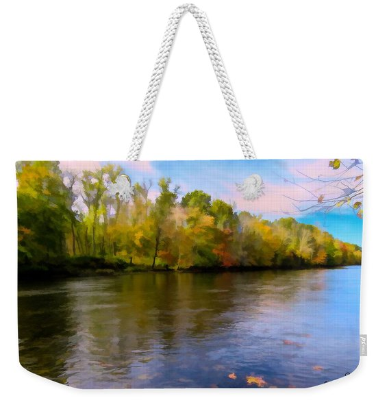 A Wide Scenic View Of Shetucket River. Weekender Tote Bag