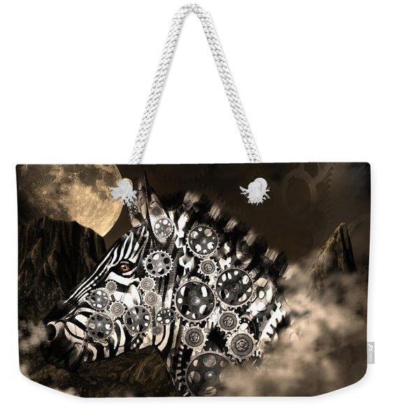 A Wild Steampunk Zebra Weekender Tote Bag