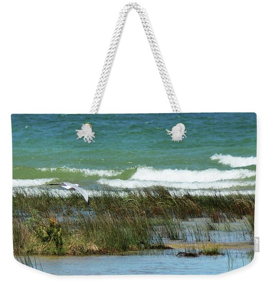 Weekender Tote Bag featuring the photograph Riding The Wind by Sally Sperry