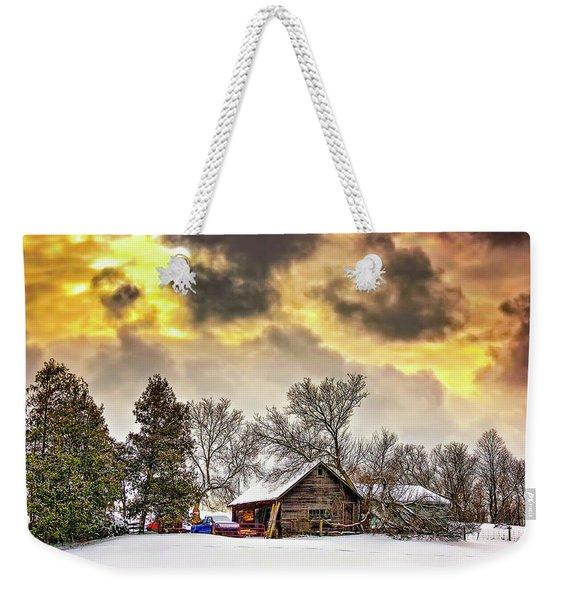 A Winter Sky Weekender Tote Bag