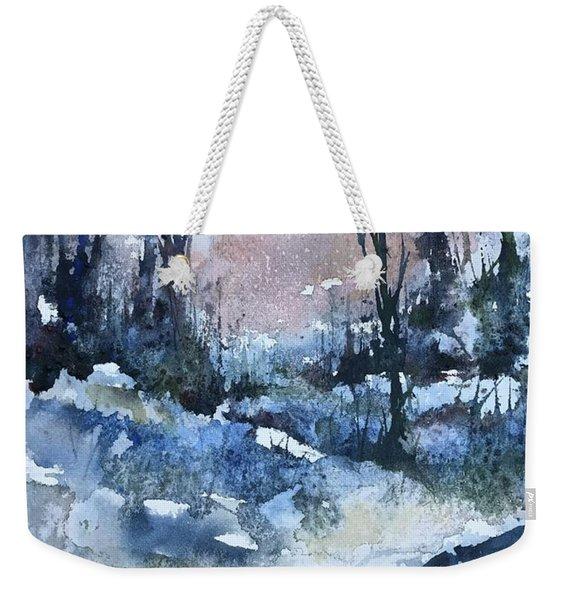 A Winter's Eve Weekender Tote Bag