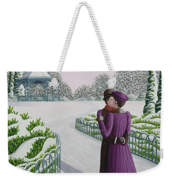 A Winter's Romance Weekender Tote Bag