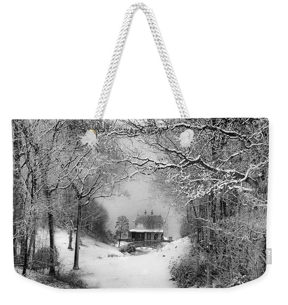 A Winter's Tale In Centerport New York Weekender Tote Bag