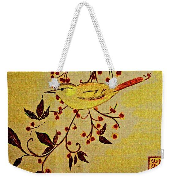 A Wren - In Pastel  Weekender Tote Bag
