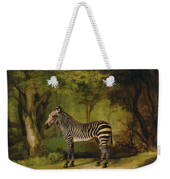 A Zebra Weekender Tote Bag