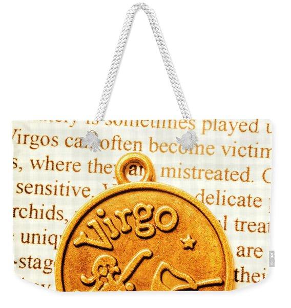 A Zodiac Theme In Virgo Weekender Tote Bag