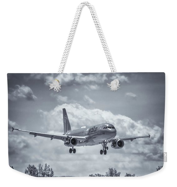 A320 On Approach Weekender Tote Bag