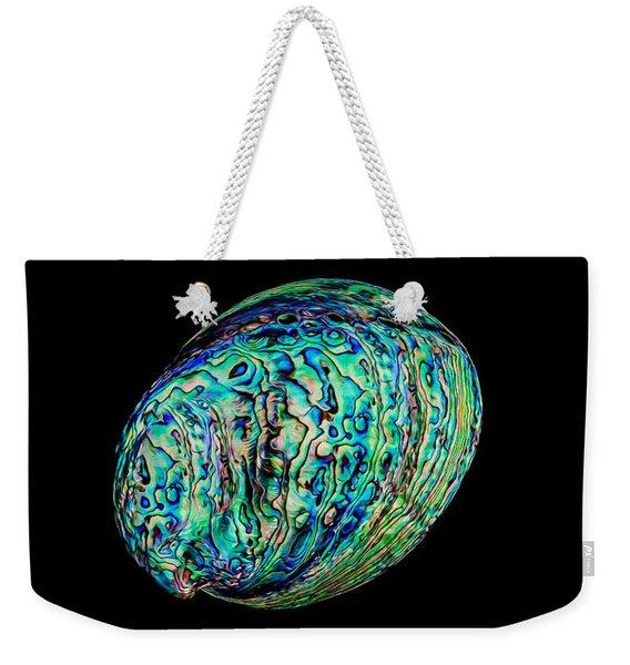 Abalone On Black Weekender Tote Bag