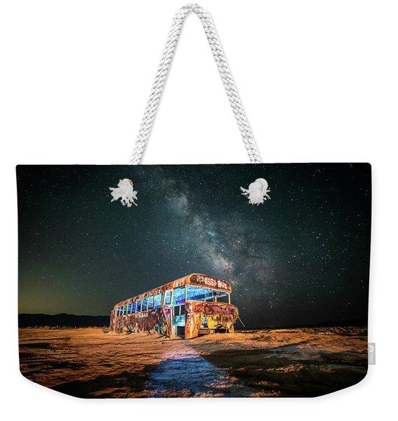Abandoned Bus Under The Milky Way Weekender Tote Bag