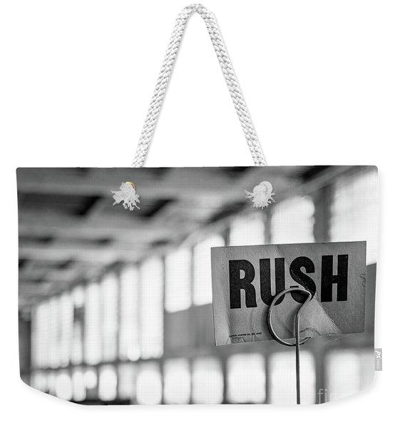 Abandoned Factory, Lewiston, Maine  -48683-bw Weekender Tote Bag