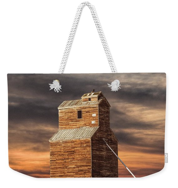 Abandoned Grain Elevator On The Prairie Weekender Tote Bag