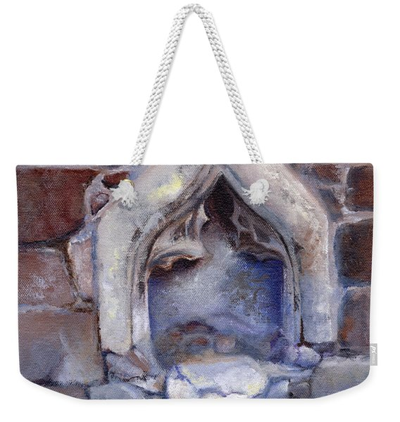 Abandoned Pedestal Weekender Tote Bag