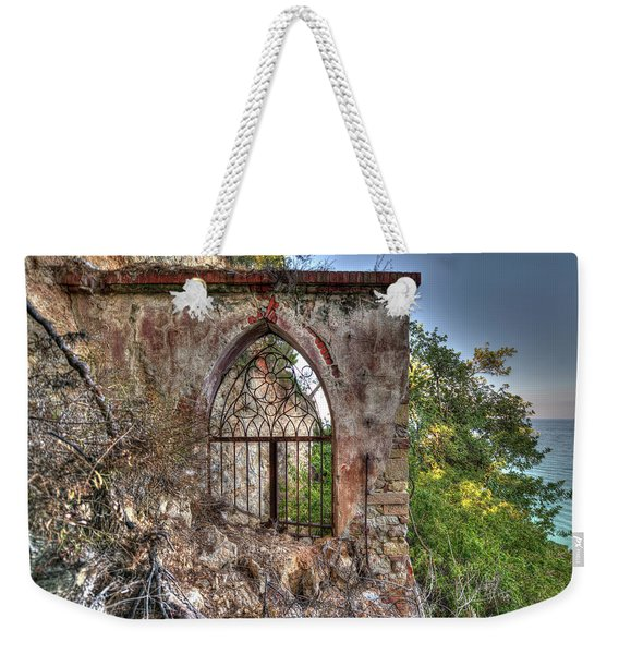 Abandoned Places Iron Gate Over The Sea - Cancellata Sul Mare Weekender Tote Bag