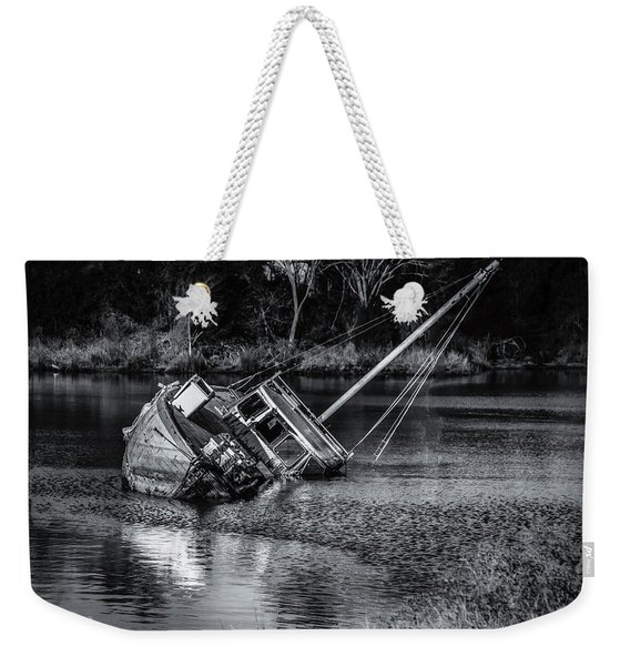 Abandoned Ship In Monochrome Weekender Tote Bag