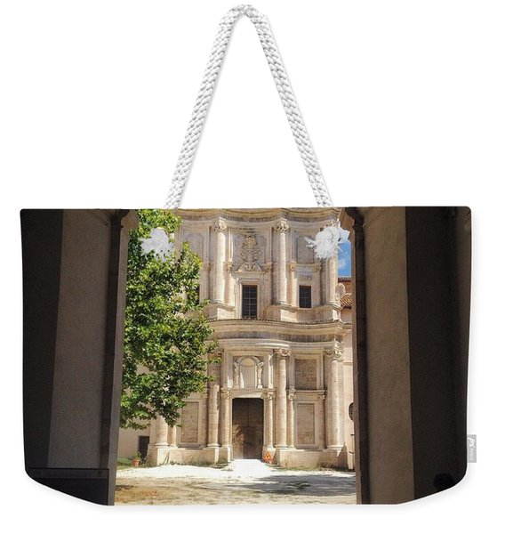 Abbey Of The Holy Spirit At Morrone In Sulmona, Italy Weekender Tote Bag