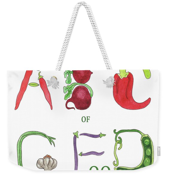 Abc Of Good Food Weekender Tote Bag