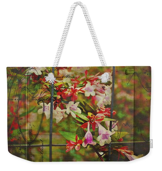 Abelia Coming Through Weekender Tote Bag