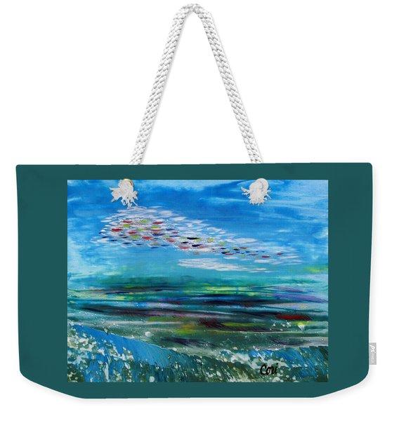 Above And Below Weekender Tote Bag