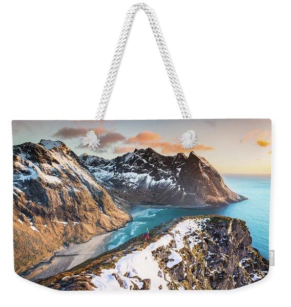 Above The Beach Weekender Tote Bag