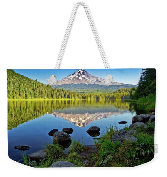 Above The Lake Weekender Tote Bag