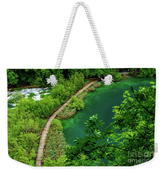 Above The Paths At Plitvice Lakes National Park, Croatia Weekender Tote Bag