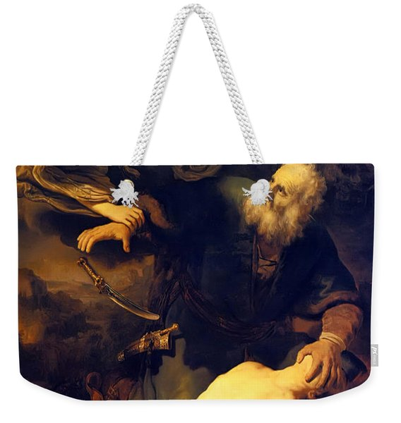 Abraham And Isaac Weekender Tote Bag