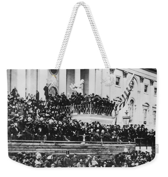 Abraham Lincoln Gives His Second Inaugural Address - March 4 1865 Weekender Tote Bag