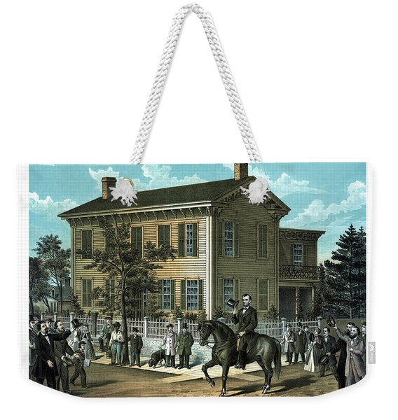 Abraham Lincoln's Return Home Weekender Tote Bag
