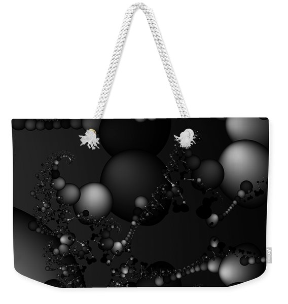 Abstract 119 Bw Weekender Tote Bag