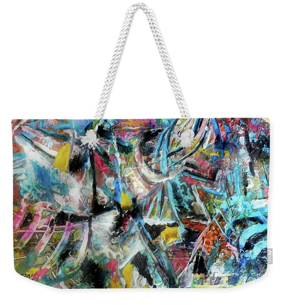 Abstract 301 - Encaustic Weekender Tote Bag