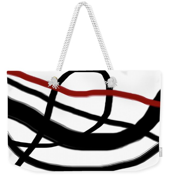 Abstract #4 Weekender Tote Bag