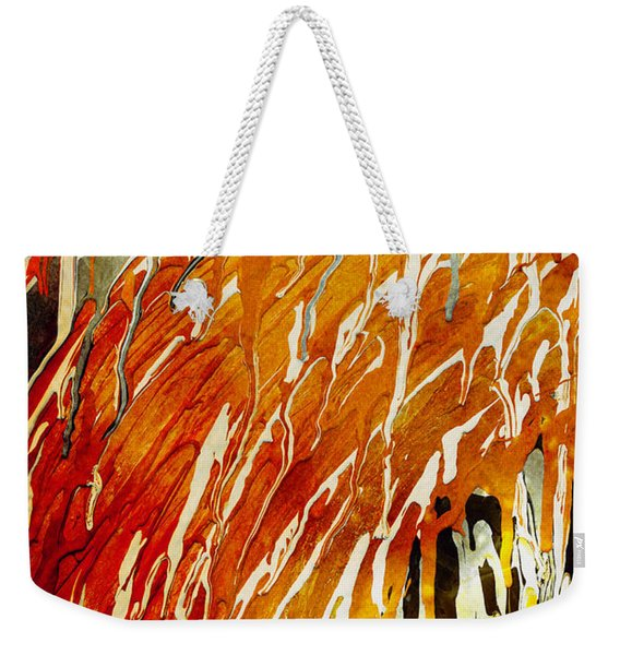Weekender Tote Bag featuring the painting Abstract A162916 by Mas Art Studio