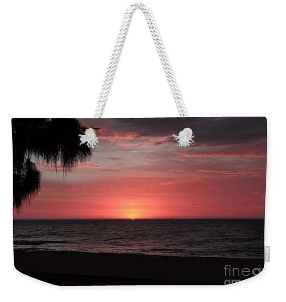 Abstract Beach Palm Tree Sunset Weekender Tote Bag