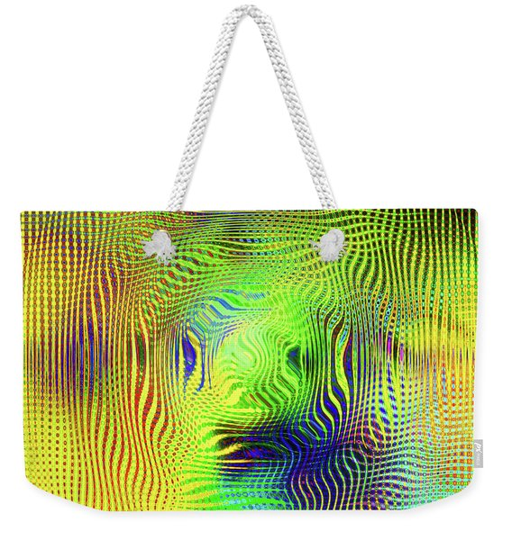 Abstract - Behind The Glass Weekender Tote Bag